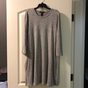 Forever 21 gray knit dress size Small